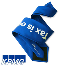 stropdas met logo opdruk KPMG