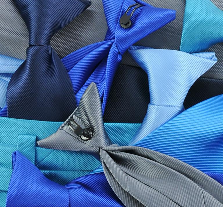 Clipstropdassen kobaltblauw