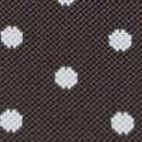 Bretels bruin met witte polkadots
