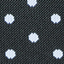 Bretels zwart met witte polkadots