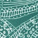 Sir Redman luxe bretels Paisley Sketch groen