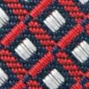 Stropdas patroon navy rood