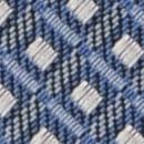 Stropdas patroon denimblauw wit