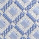 Stropdas patroon wit lichtblauw