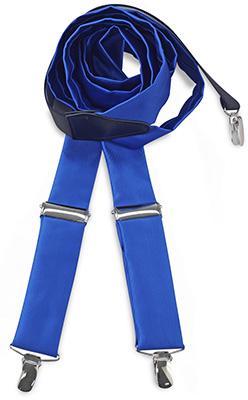 Bretels stropdassenstof kobaltblauw