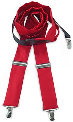Bretels stropdassenstof rood