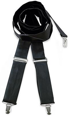 Bretels stropdassenstof zwart