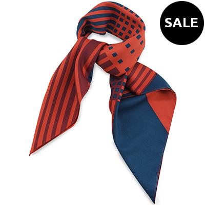 Sjaal rood / blauw