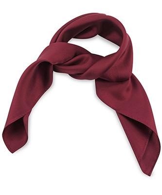 Sjaal zijde bordeauxrood