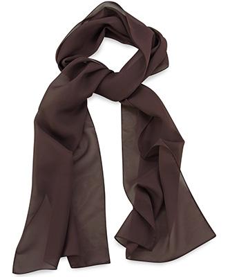 Sjaal uni chocoladebruin