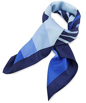 Sjaal blauw gestreept