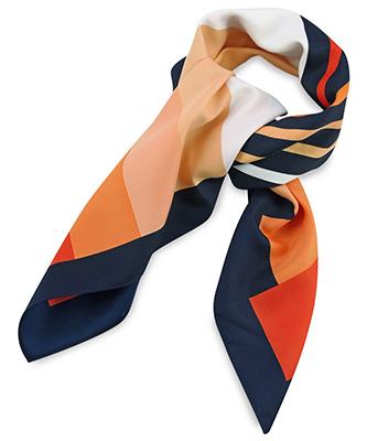 Sjaal oranje gestreept