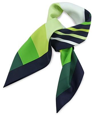 Sjaal groen gestreept