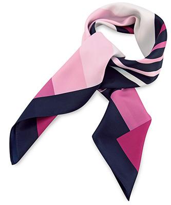 Sjaal roze gestreept