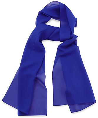 Sjaal uni kobaltblauw
