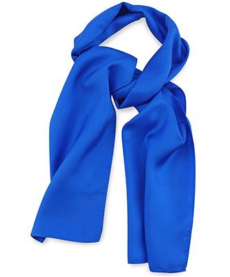 Sjaal kobaltblauw uni