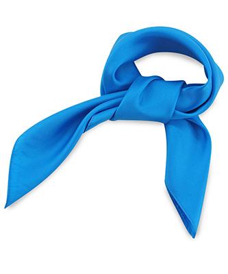 Sjaal zijde process blue