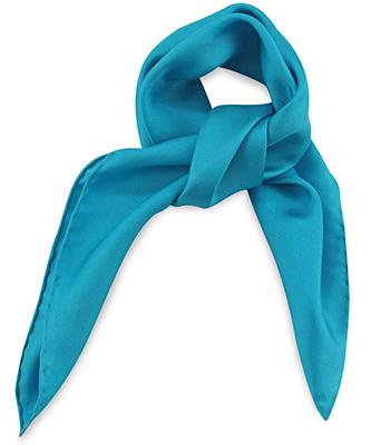 Sjaal zijde turquoise