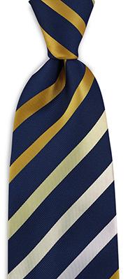 Stropdas geel / blauw / wit