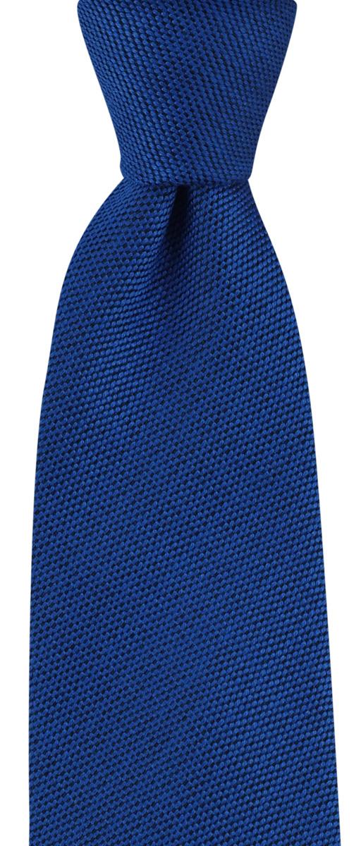 Stropdas wol zijde kobaltblauw