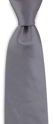 Stropdas zijde satijn grijs
