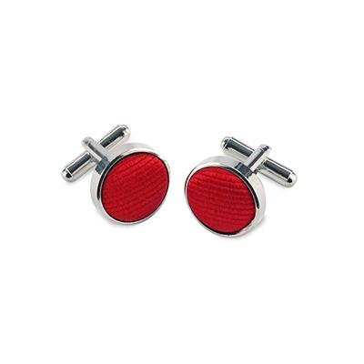 Manchetknopen zijde rood