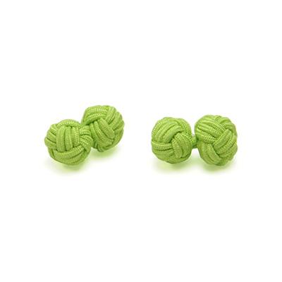 Manchetknopen stof lime groen